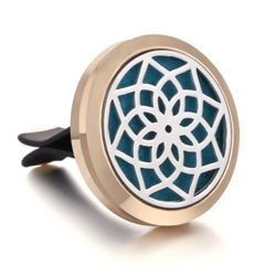 Car Air Diffuser, Freshener - Essential Oil Diffuser - Rosette